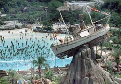 The Boat perched above the Wave Pool